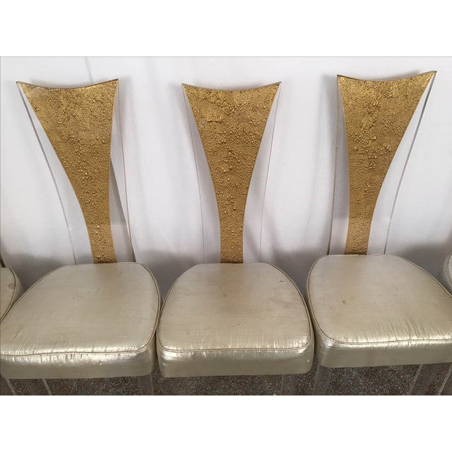 Vintage Glam & Unique Lucite Dining Chairs - Set of 6 - Image 4 of 9