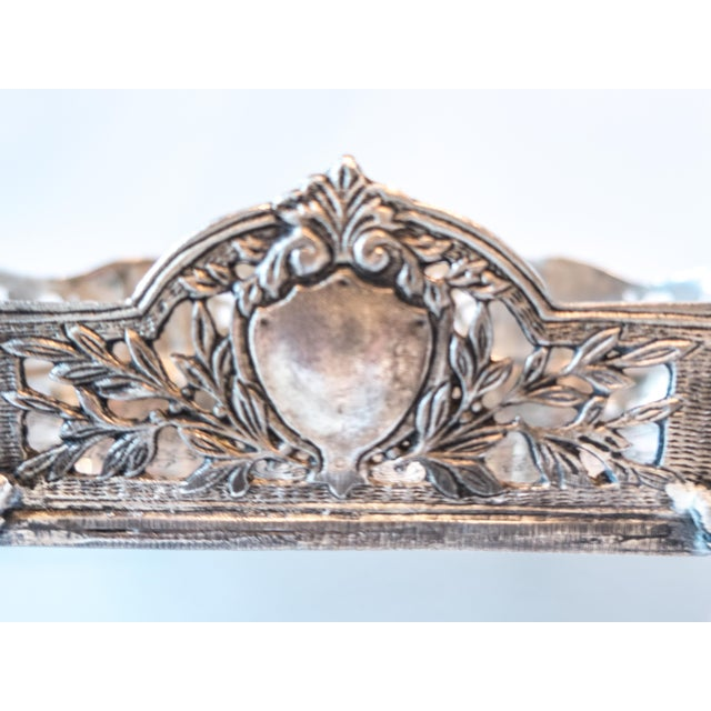 Art Nouveau Jardiniere Style Tray Silver Plate Ornate - Image 5 of 7