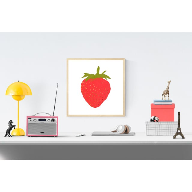"""Portrait of a Strawberry Graphic Fine Art Print - 20"""" X 20"""" For Sale - Image 4 of 5"""