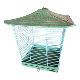 Mid 20th Century Reliance Green Asian Style Birdcage For Sale