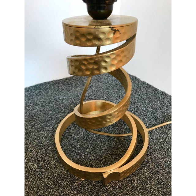 Metal Pair of Brass Lamps by Luciano Frigerio, Italy, 1970s For Sale - Image 7 of 9