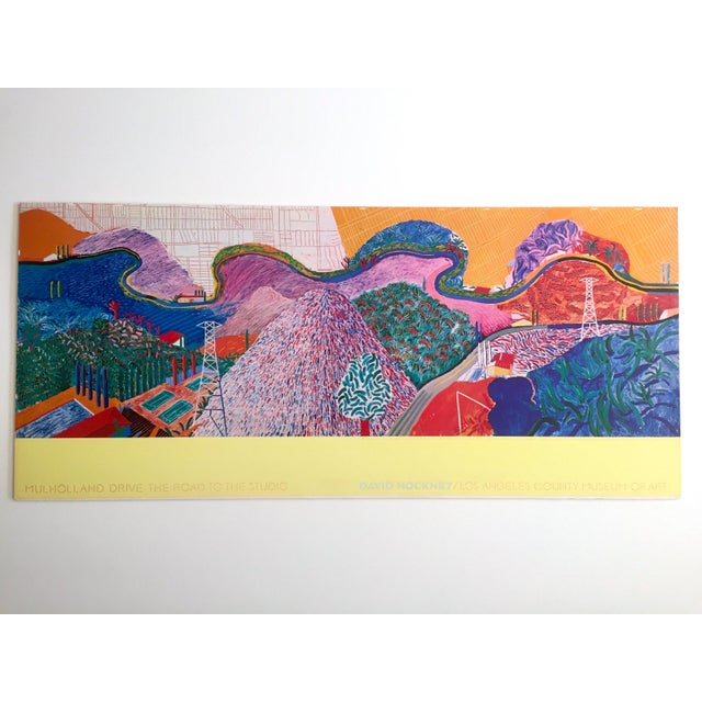 "Rare 1980 David Hockney Original Collotype Print Poster "" Mulholland Drive "" For Sale - Image 11 of 11"