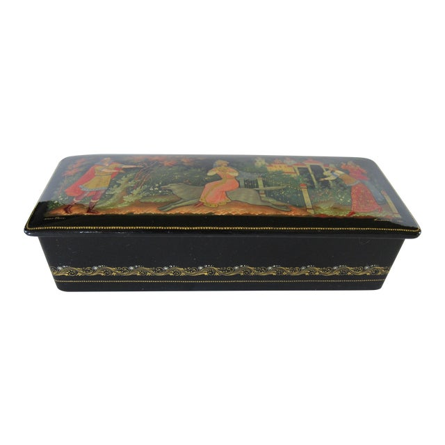 Signed Russian Lacquer Box For Sale