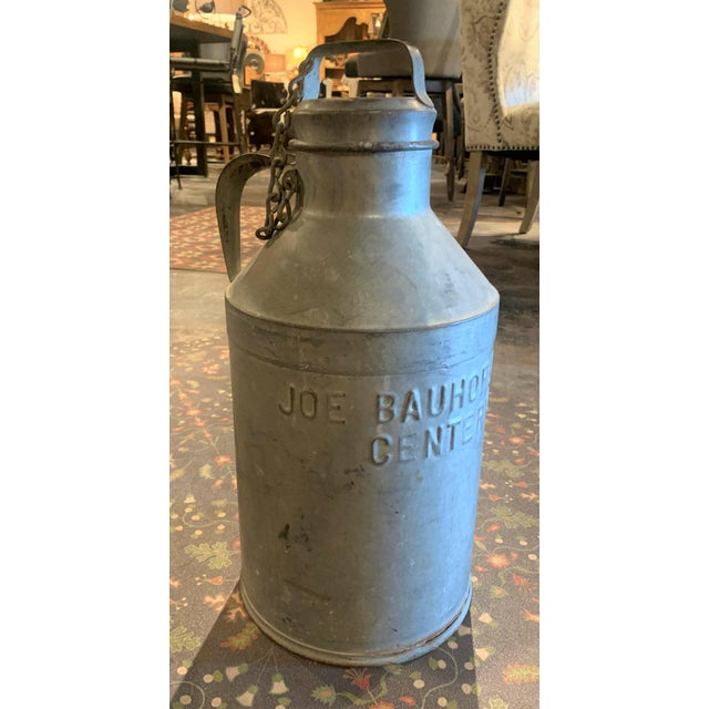 1930s Antique Joe Bauhofer & Sons Stainless Steel Milk Jug For Sale - Image 13 of 13