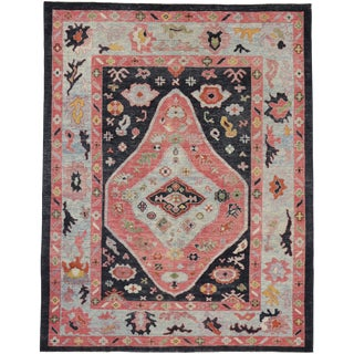 Contemporary Turkish Oushak Area Rug - 8′4″ × 10′9″ For Sale