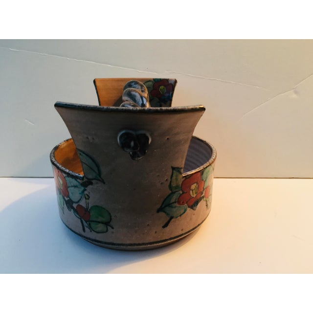 Art Deco Japanese Art Deco Pottery Bowl For Sale - Image 3 of 9