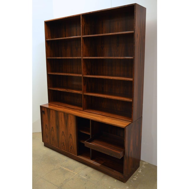 Mid-Century Modern Danish Rosewood Bookcase For Sale - Image 4 of 10