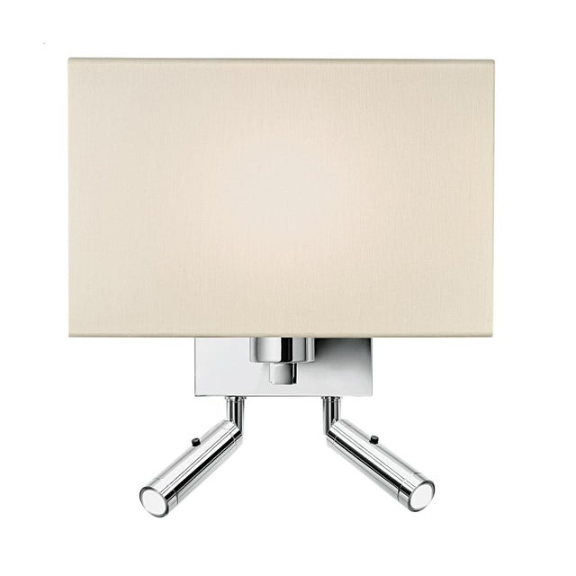 Mid-Century Modern Combination Wall Light With Twin Led Reading Light in Polished Chrome For Sale - Image 3 of 3