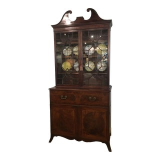18th Century George III Bookcase Secretary For Sale