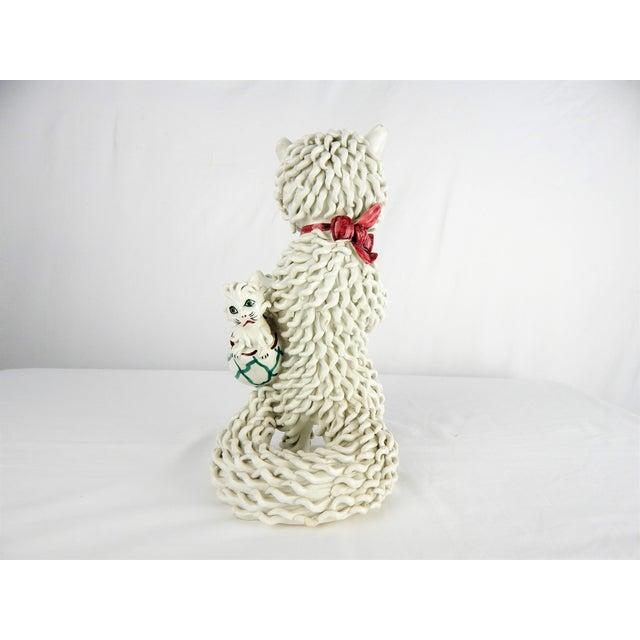 Ceramic 1950s Italian Spaghetti Cat & Kittens Figure For Sale - Image 7 of 12
