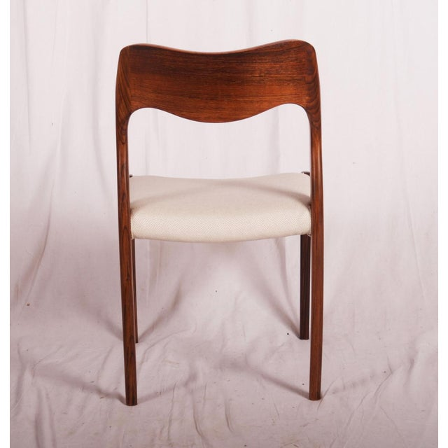 Brown Model 71 Rosewood Dining Chairs by Niels O. Møller for JL Møllers, 1951 For Sale - Image 8 of 11
