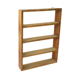 Simple Wooden Shelf Unit