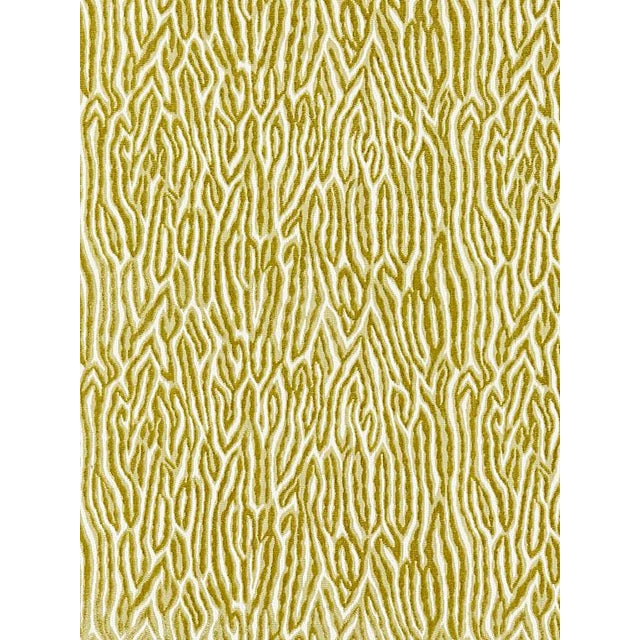 Transitional Scalamandre Faux Bois Velvet, Peridot Fabric For Sale - Image 3 of 3