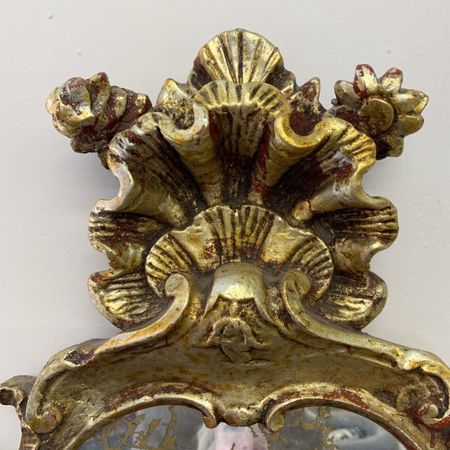 Chunky Rococo Italian Leaf Gilt Mirror For Sale - Image 4 of 12