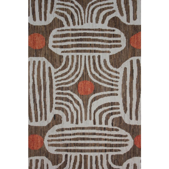 """Hand Knotted Ikat Rug - 9'11"""" X 8' - Image 4 of 5"""