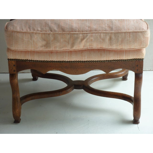 Soft Peach Louis XV-Style Fauteuil - Image 4 of 5