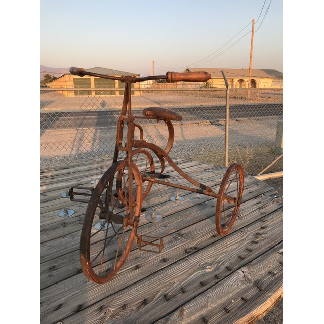 Early 20th Century Early 1900s Antique Industrial Cast Iron Tricycle For Sale - Image 5 of 13