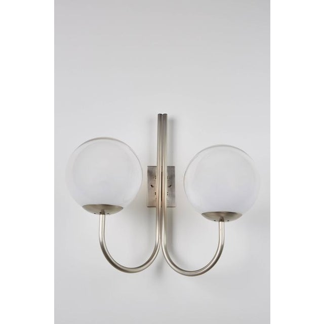Four Opaline Glass Wall Lights - Image 2 of 9