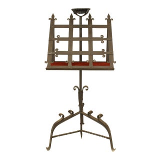 Gothic Revival Wrought Iron Lectern For Sale
