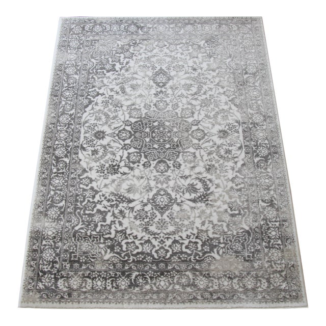 Gray Faded Medallion Rug - 5' X 8' - Image 1 of 6