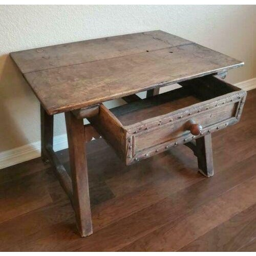 Wood 18th Century Rustic Spanish Colonial Low Table For Sale - Image 7 of 11