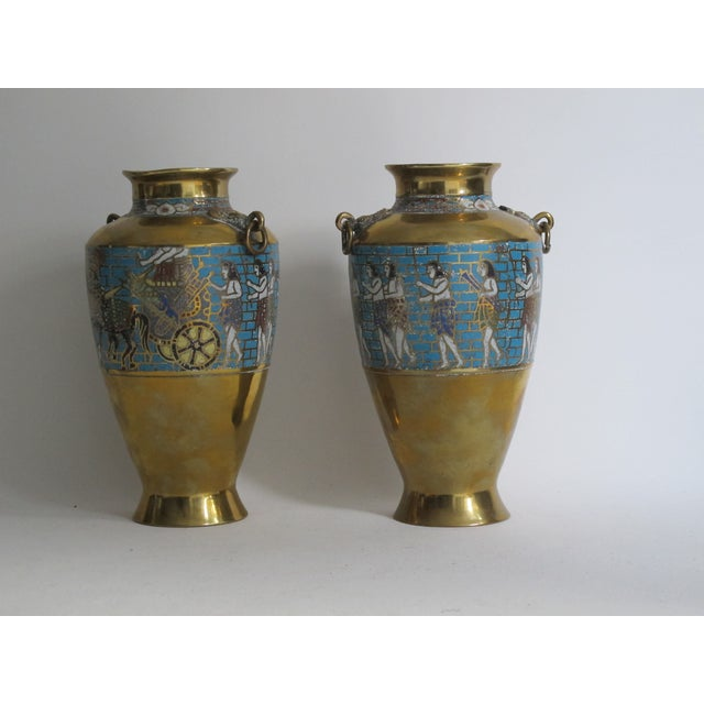 Egyptian Revival Urns - A Pair For Sale - Image 5 of 9