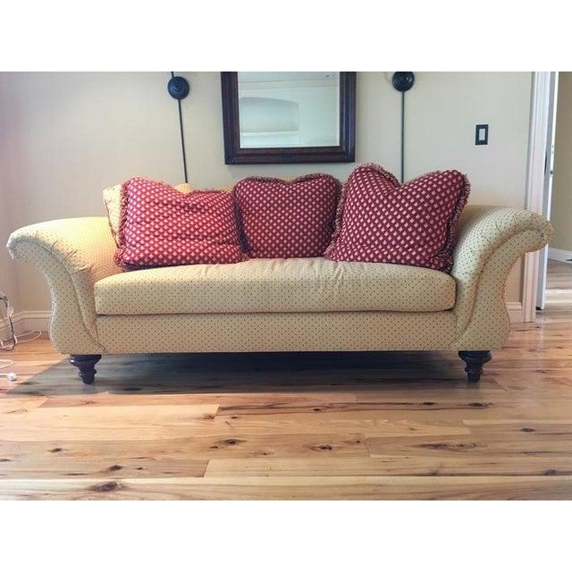 Calico Corners Custom Single Cushion Sofa & Pillows - Image 6 of 6