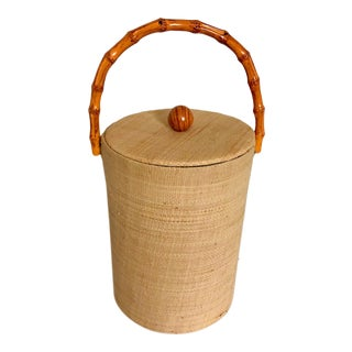 Grasscloth Ice Bucket For Sale