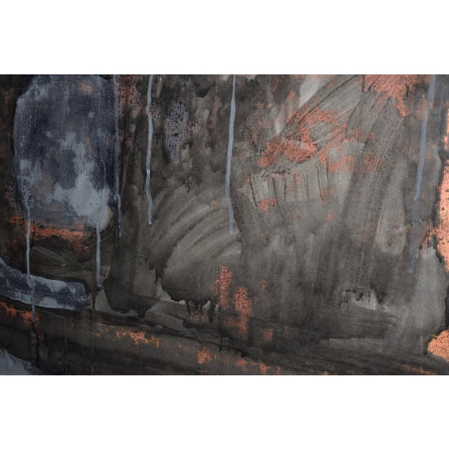 Aaron Fink (American, B.1955) Vintage Abstract Original Painting C.1986 For Sale In San Francisco - Image 6 of 13
