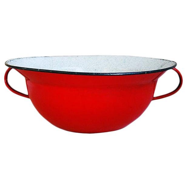Jumbo European Two-Handled Harvest Bowl For Sale