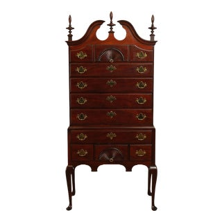 Kindel Queen Anne Style Mahogany Highboy For Sale