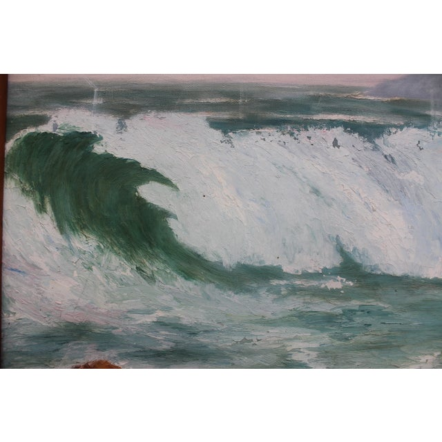 Ocean Scene, Oil Painting by Jean Papenfus For Sale - Image 7 of 11