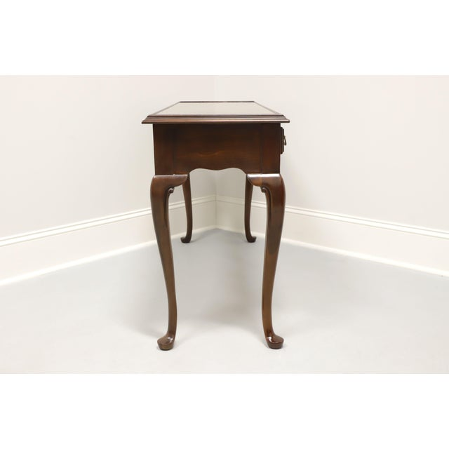 Queen Anne Drexel Heritage Solid Cherry Queen Anne Console Table For Sale - Image 3 of 13