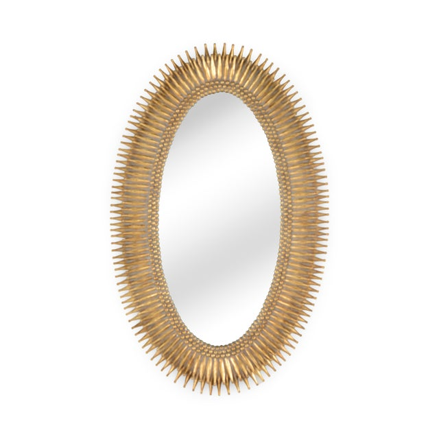 Mid-Century Modern Lucius Mirror in Gold For Sale - Image 3 of 4