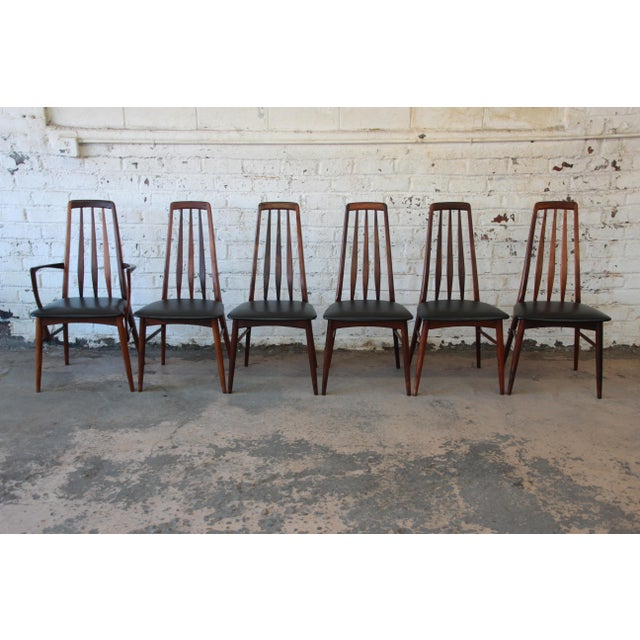 Niels Koefoed for Koefoeds Hornslet Eva Rosewood Dining Chairs- Set of 6 - Image 3 of 11