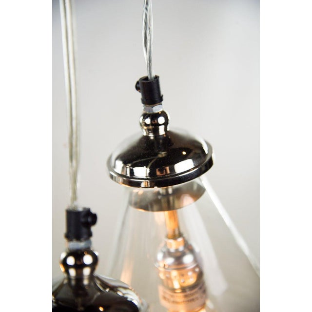 Triple Cone Hanging Light For Sale - Image 4 of 10
