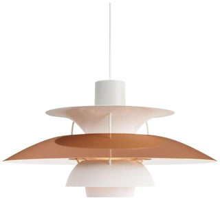 Scandinavian Modern Poul Henningsen for Louis Poulsen Ph 5 Copper Pendant For Sale