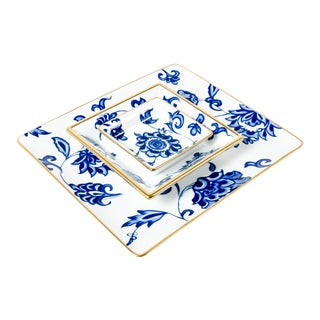 French Porcelain Decorative Set Catch All Trays