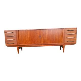 1960s Johannes Andersen for Uldum Mobelfabrik Danish Teak Credenza For Sale