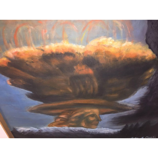 Paint Modern World Peace Painting by Artist John Dasho For Sale - Image 7 of 10