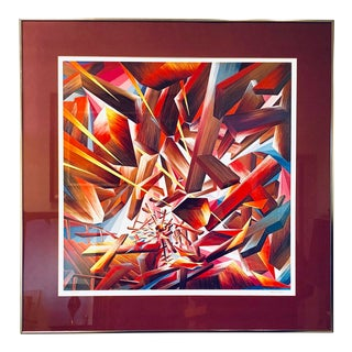"""Abstract Holocaust Print Titled """"Apocolypse"""" by Mark A. Strauss For Sale"""