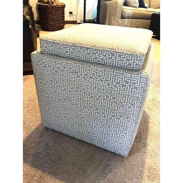 2010s Rowe Nelson Storage Ottoman For Sale - Image 5 of 5