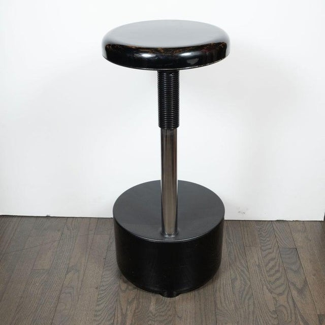 Mid-Century Modern Lucci & Orlandini for Velca Legnano Modern Stools - Set of 4 For Sale - Image 11 of 12
