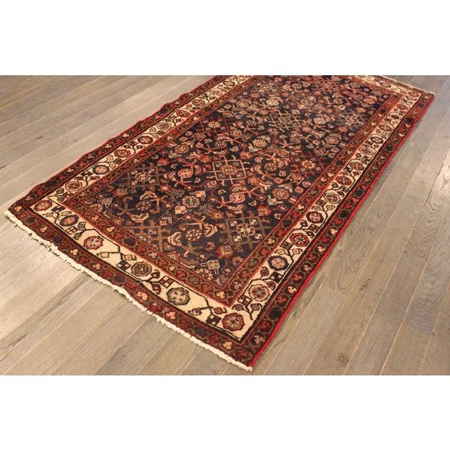 """Vintage Persian Wool Rug - 3'2"""" X 6'5"""" - Image 4 of 4"""