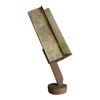 Mid-Century Modern Douglas Wallower Steel and Concrete Sculpture For Sale