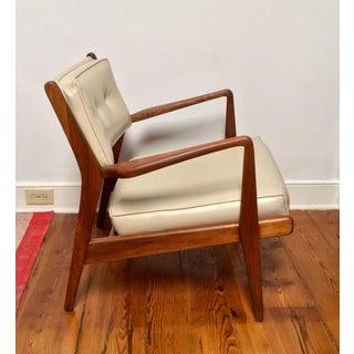 20th Century Scandinavian Modern Jens Risom Walnut Low Lounge Chair Preview