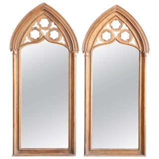 1910s Fine Mirrors from a Bishop Abode With Ecclesiastical Symbols - a Pair For Sale
