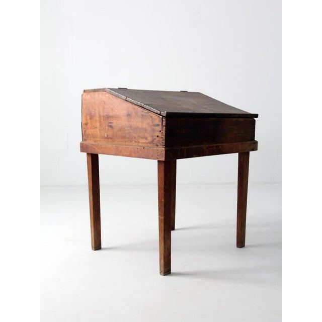 Antique Slant Top Desk For Sale - Image 4 of 10 - Antique Slant Top Desk Chairish