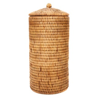 Boho Chic Artifacts Rattan Double Toilet Roll Holder For Sale