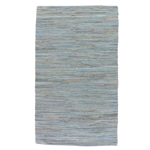 Jaipur Living Raggedy Handmade Solid Blue & Gray Area Rug - 8' X 10' For Sale In Atlanta - Image 6 of 6